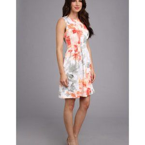 Vince Peach Coral Scuba Fit Flare A-Line Dress 4